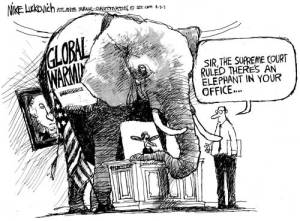 The Elephant in Obama's Oval Office