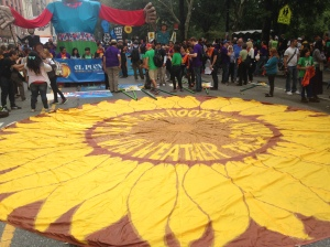 Sunflower Parachute - Frontline Communities Bloc